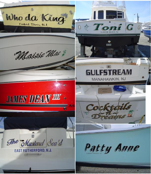CampC SIGNS BOAT LETTERING amp Install Car Truck Business
